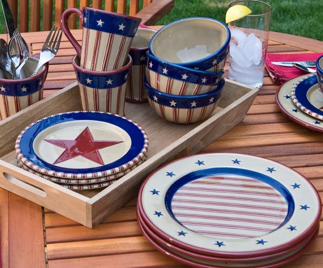Park Designs Stars And Stripes Dinner Plates Set Of 4