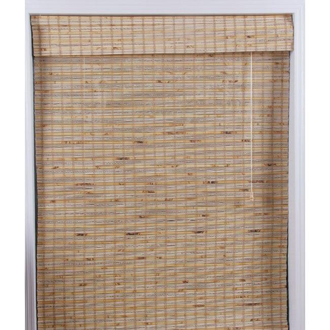 Arlo Blinds Mandalin Bamboo Roman Shade (75 in. x 74 in.)