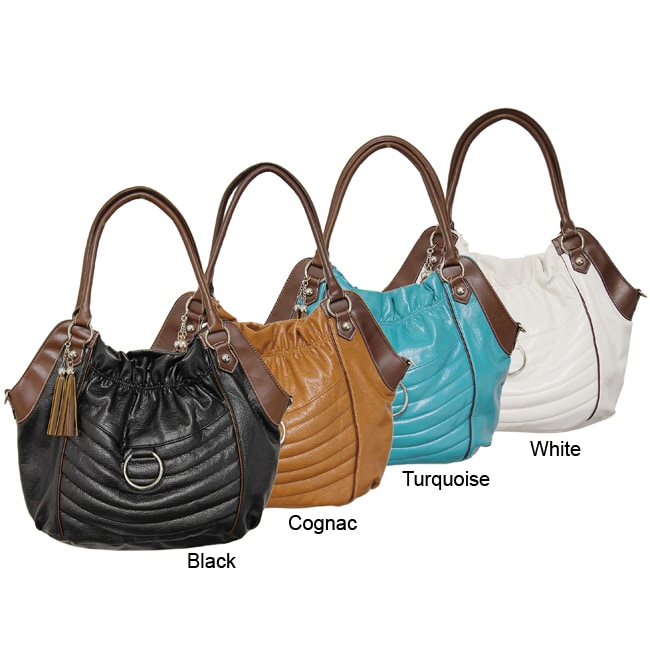 Je Veux Two-tone Double-strap Oversized Handbag
