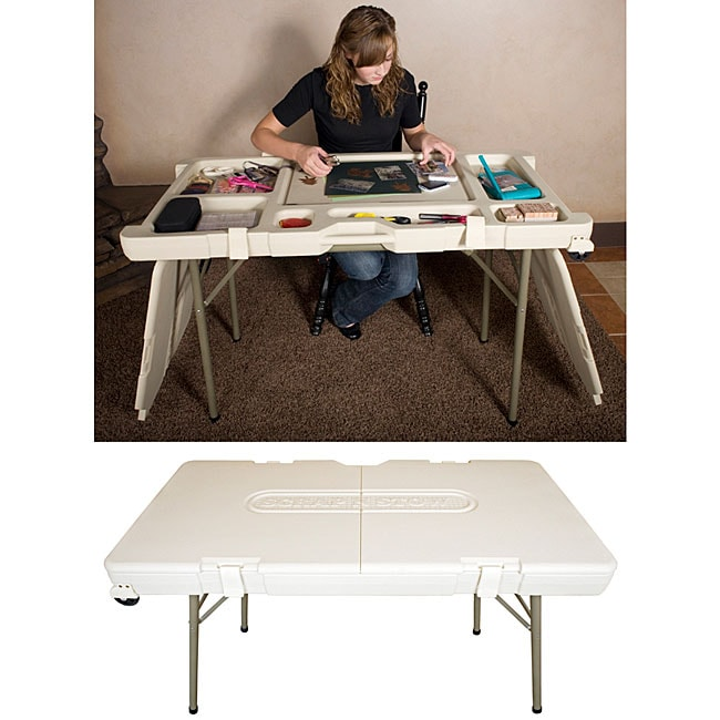 Shop Scrap N Stow Craft Table Free Shipping Today Overstock