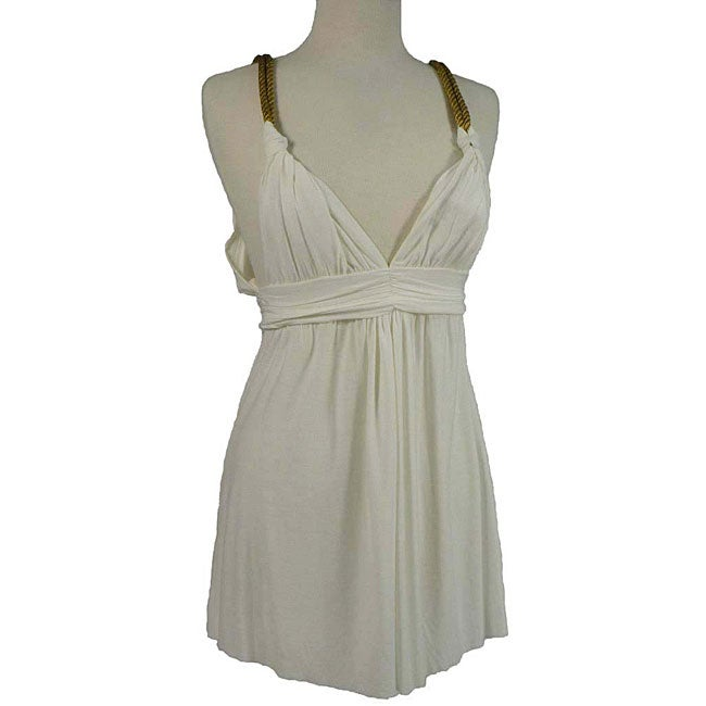 T-Bags Women's White Summer Dress