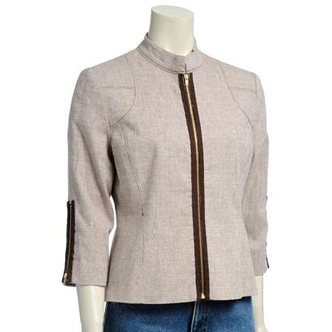 Sharagano Women S Linen Casual Jacket Free Shipping