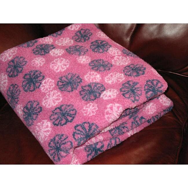 Flower Power Fleece Throw Blanket