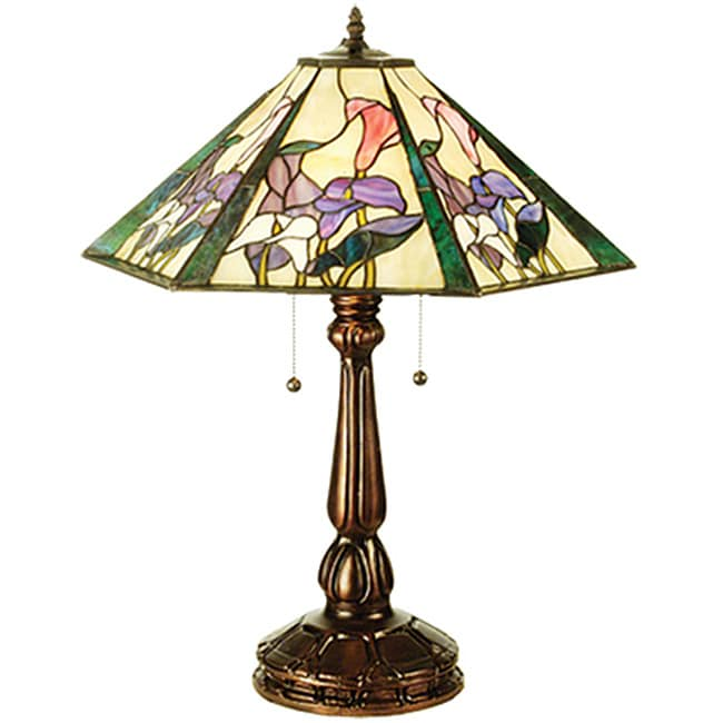 Shop Calla Lily Table Lamp Free Shipping Today Overstock Com