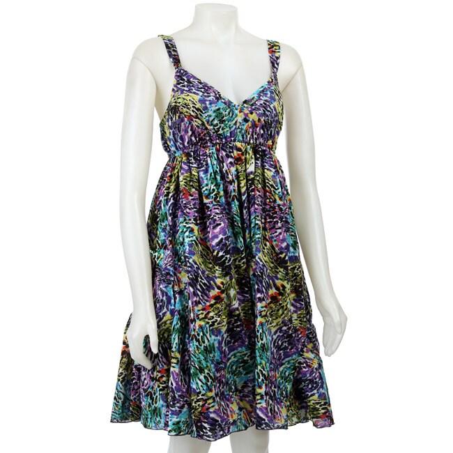 FINAL SALE Spense Women's Multicolor V-neck Dress