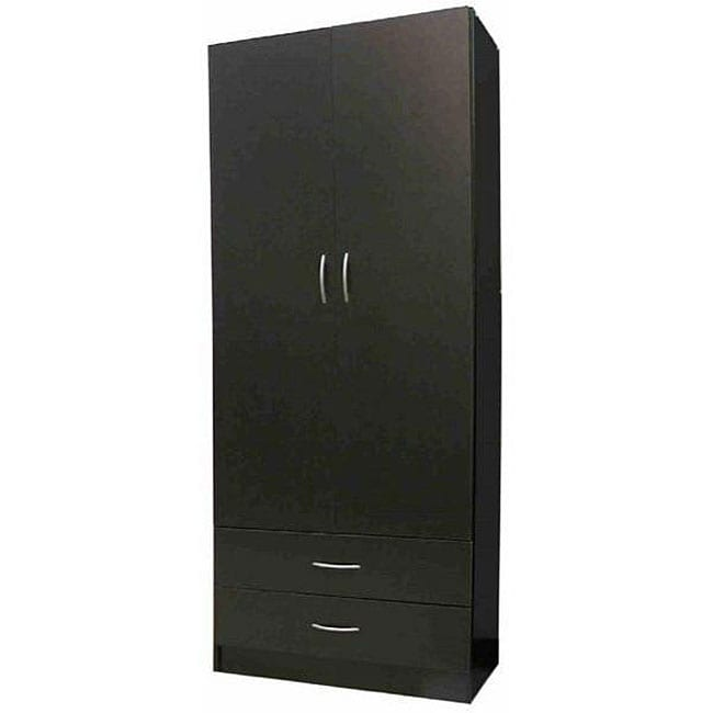 Black 2-door Wardrobe
