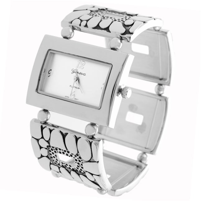 Geneva Platinum Women's Textured Stretch Watch