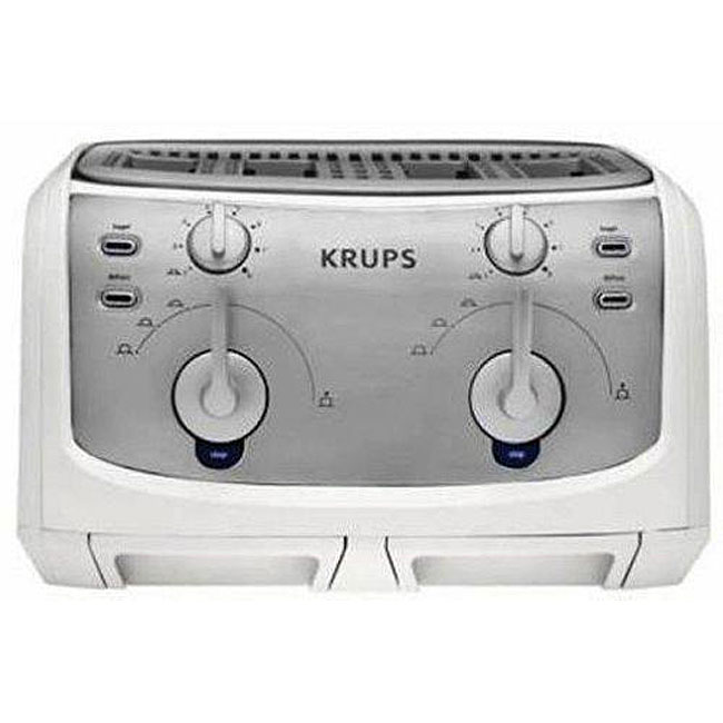 Krups FEM4W 1600-watt Toast Expert 4-slice Toaster