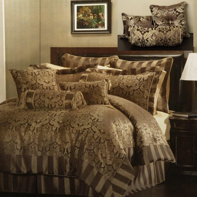 Allison Chocolate/ Gold 9-piece Comforter Set