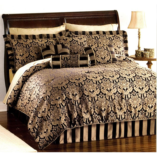 Allison Black/ Gold 8-piece Bed in a Bag