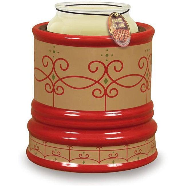 Candle Warmer Crock - Terracota Scroll