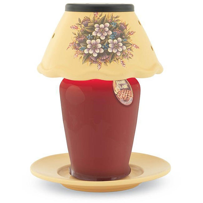 Ceramic Candle Warmer Lamp - Floral Bouquet