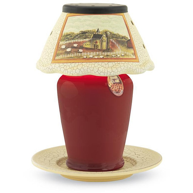 Farm House Small Ceramic Candle Warmer Lamp