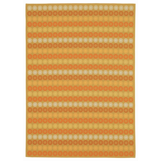 Martha Stewart by Safavieh Sunstripe Cinnamon Wool Rug - 7'7 x 9'10