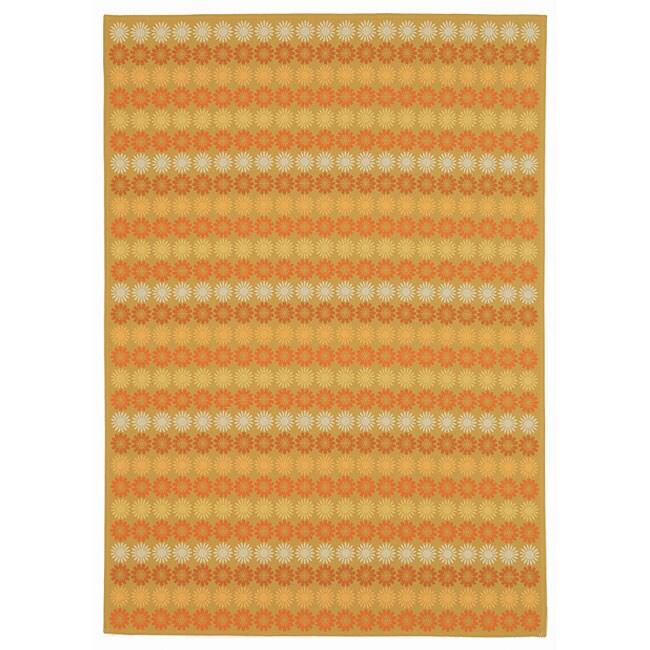 Martha Stewart by Safavieh Sunstripe Cinnamon Wool Rug - 9'1 x 10'1