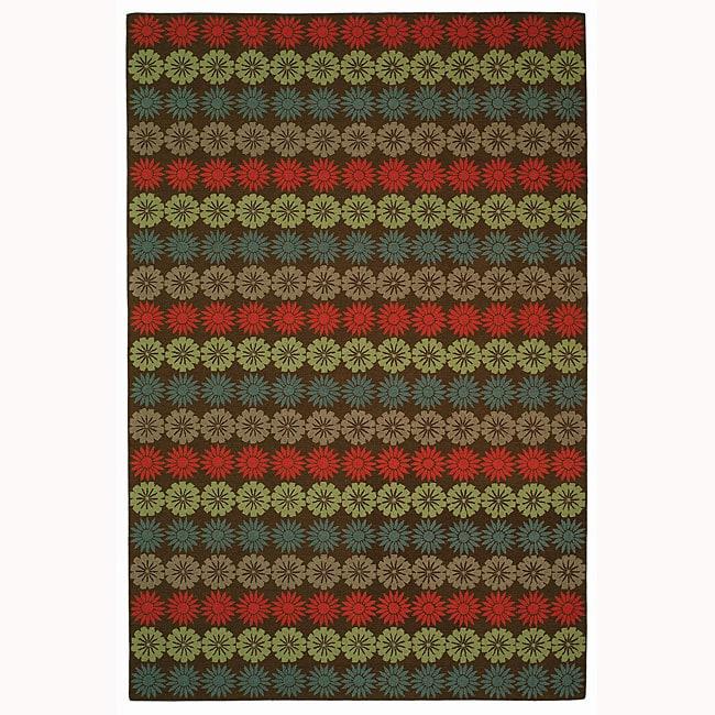 Martha Stewart by Safavieh Solar Garden Mulberry Wool Rug (5'6 x 8'6)