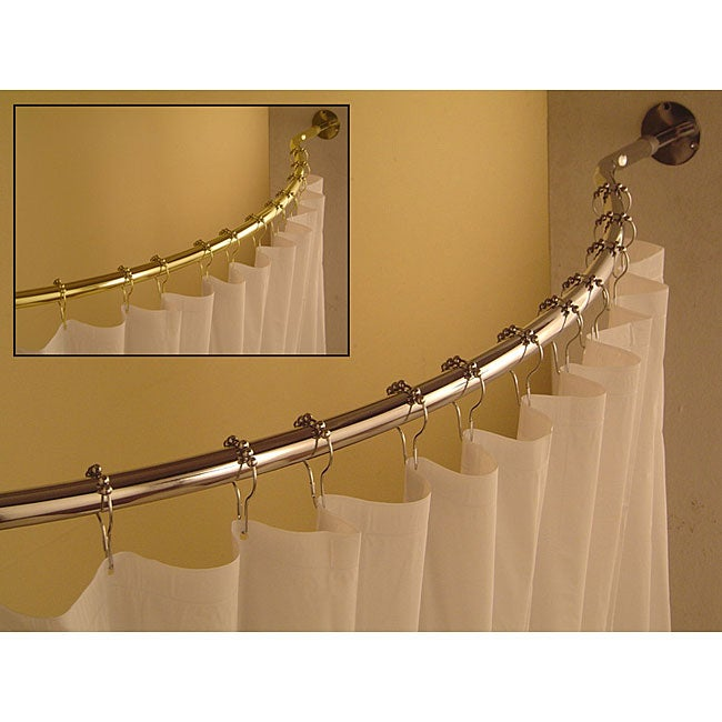 Curved 59 to 62-inch Shower Curtain Rod - Thumbnail 0
