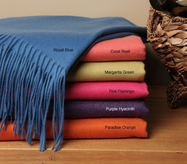 Cashmere Showroom Resort Collection Throw