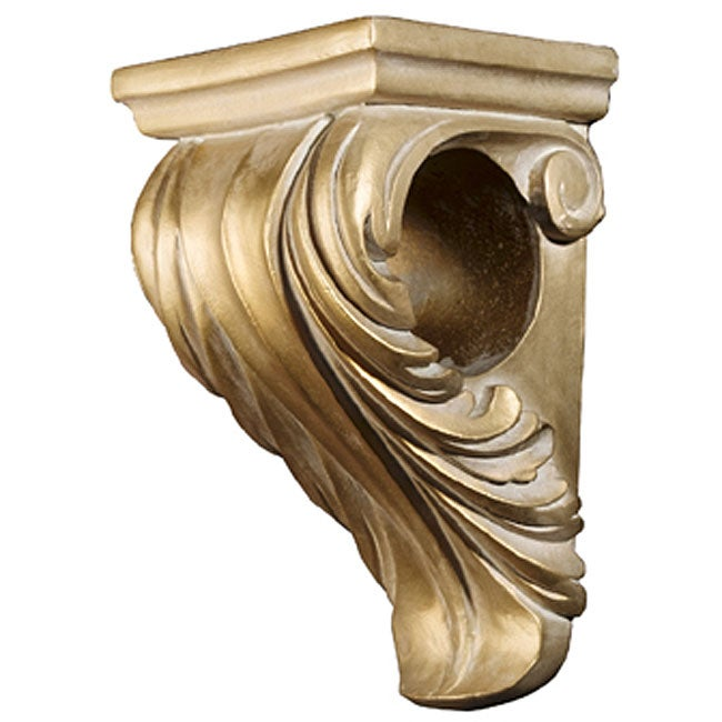 Curtains Ideas corbel curtain rod bracket : Scroll Corbel Gold Bracket - Free Shipping On Orders Over $45 ...