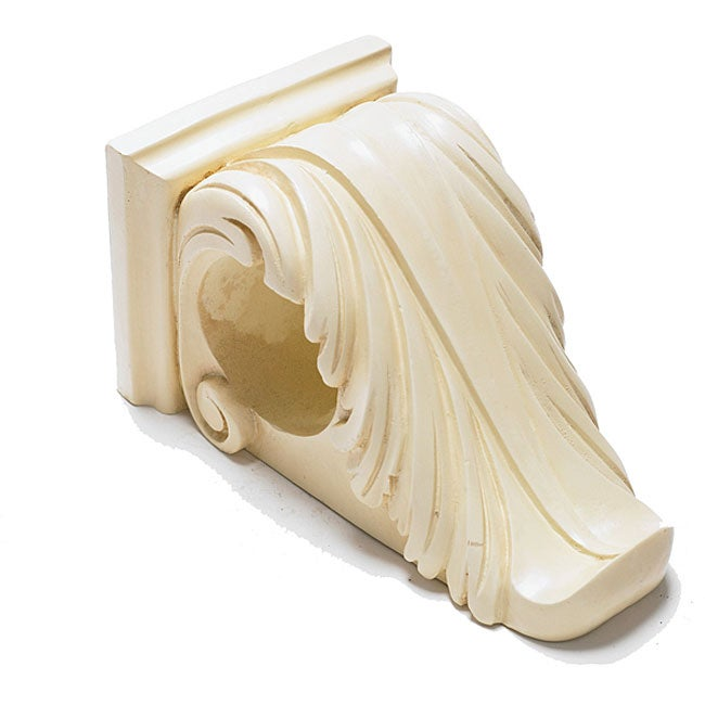 Curtains Ideas corbel curtain rod bracket : Scroll Corbel Ivory Bracket - Free Shipping On Orders Over $45 ...