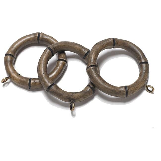 bamboo drapery rings pack of 10