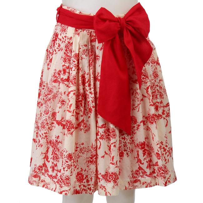 FINAL SALE Eva Franco Women's 'Avril' Floral Skirt
