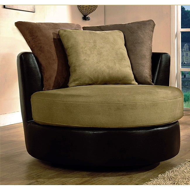 Furniture of America Celestial Round Swivel Chair