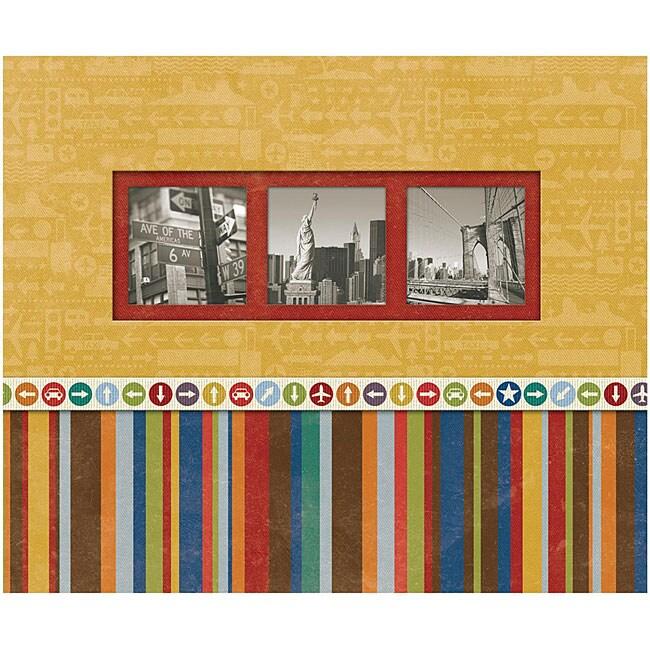 K & Company Perfect-bound 'Beep Beep Travel' Scrapbook Album