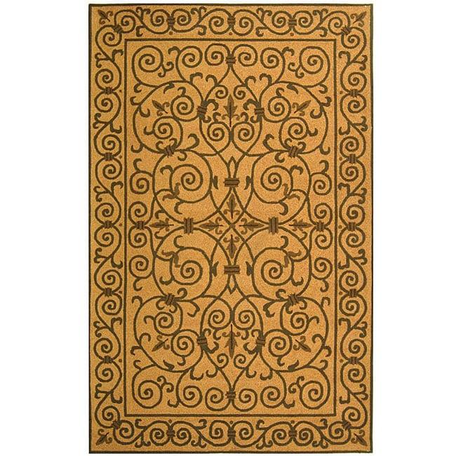 Safavieh Hand-hooked Iron Gate Yellow/ Light Green Wool Rug - 5'3 x 8'3