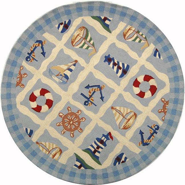 Safavieh Hand-hooked Sailor Ivory Wool Rug (4' Round)