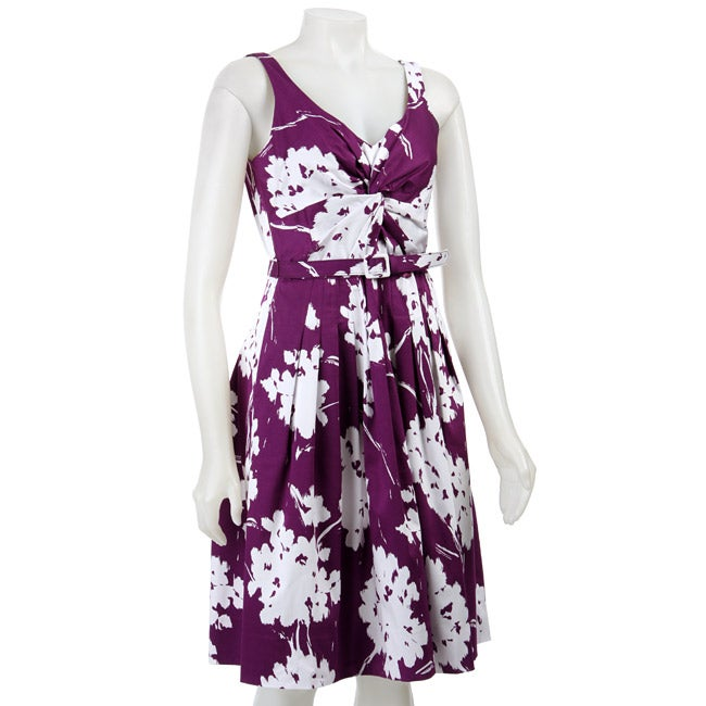 2f2ff5f0e86 Shop Eliza J Women s Floral Printed Sundress - Free Shipping Today -  Overstock - 4040698