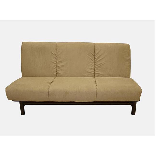 Armless Mocha Futon Sofa Bed Free Shipping Today