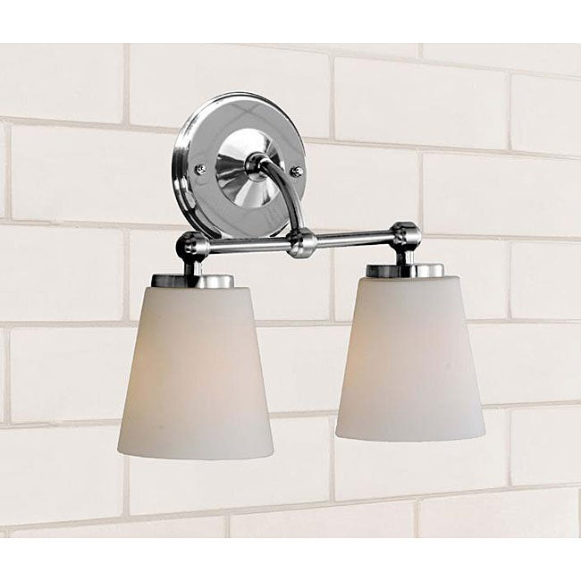 Bathroom Sconces Overstock chrome bathroom double sconce - free shipping today - overstock