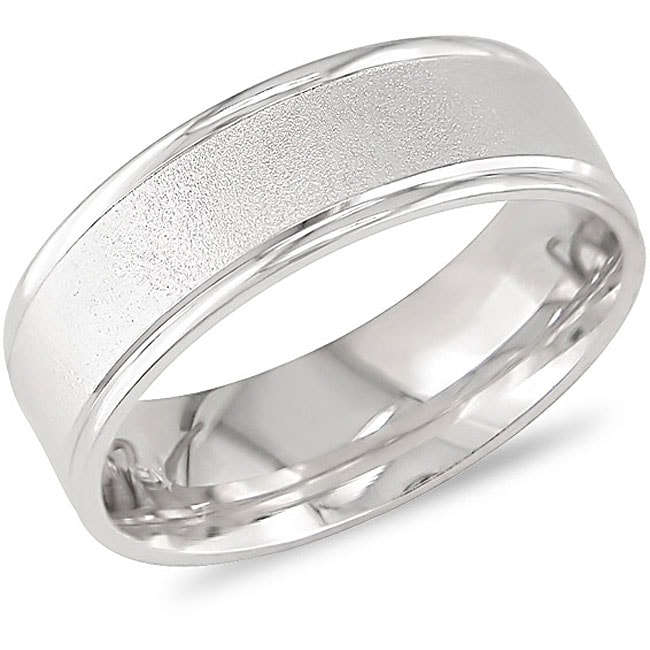 14k White Gold Comfort Fit Women's Wedding Band