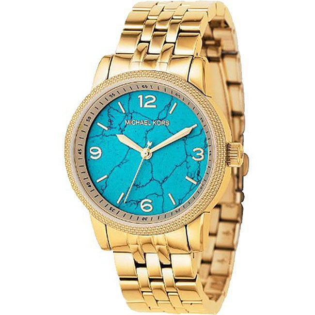 05fd8c8f0242 Shop Michael Kors Women s Light Blue Dial Watch - Free Shipping Today -  Overstock - 4046755