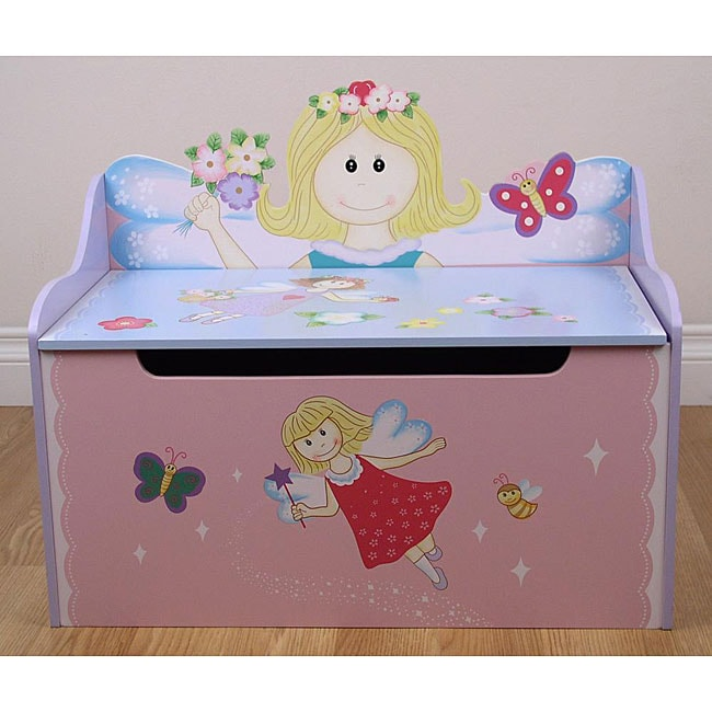 Kids Storage Bench Furniture Toy Box Bedroom Playroom: Flower Fairy Storage Toy Box Bench