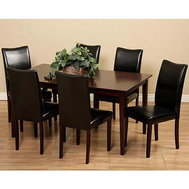 shino black 7 piece dining room furniture set free