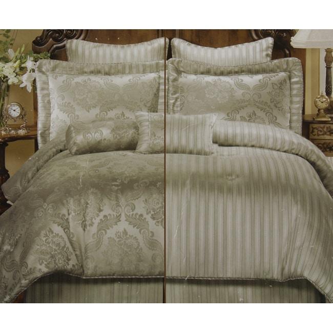 Clara Sage 8-piece Reversible Comforter Set