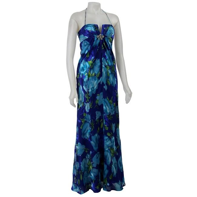 c312f1d7bcb31 Nightway Women's Printed Silk Chiffon Maxi Dress