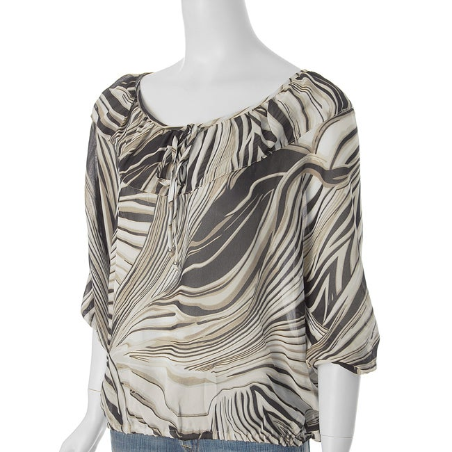 Shop Unique Spectrum Women S Banded Bottom Blouse Free Shipping On