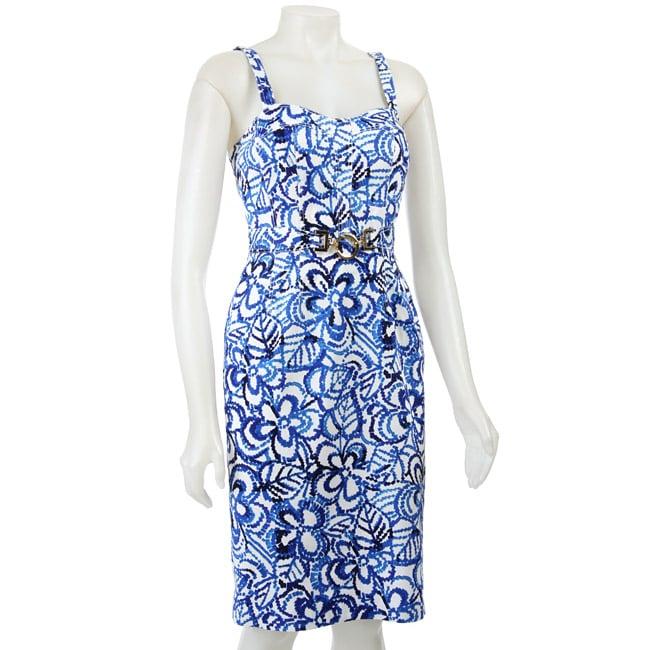 FINAL SALE Anne Klein Women's Grecian Floral Sheath Dress