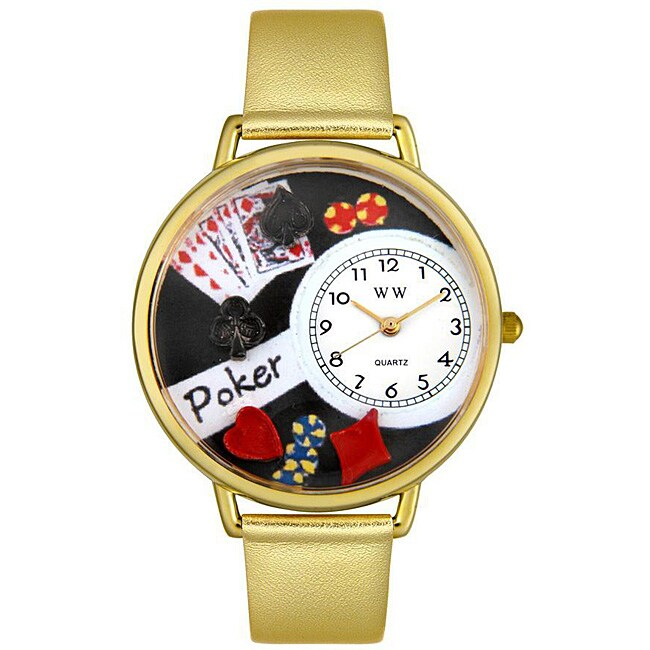 Whimsical Unisex  'Poker' Theme Watch