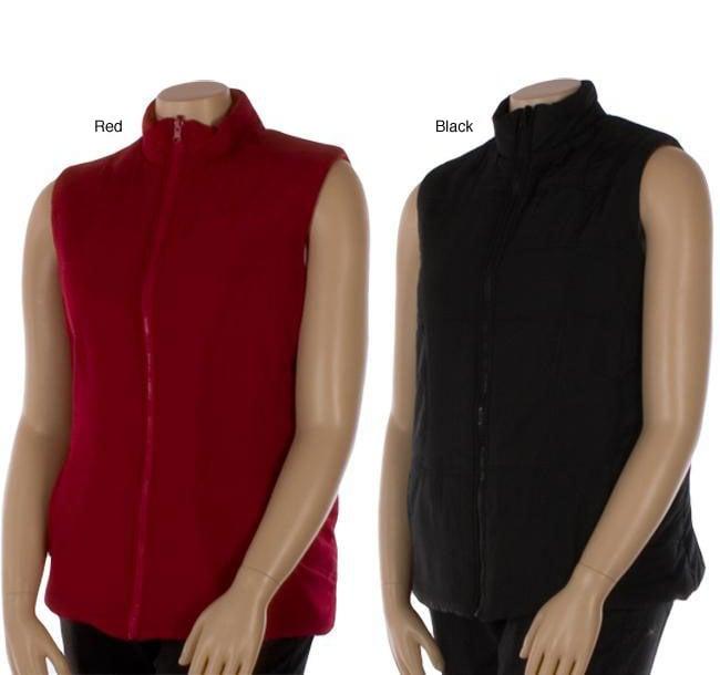 Shop Debbie Morgan Women s Plus Size Fleece Vest - Free Shipping On Orders  Over  45 - Overstock.com - 4056370 138fa44c6