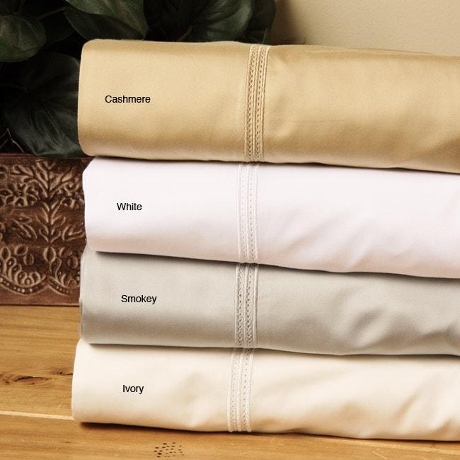 Sateen Egyptian Cotton 600 Thread Count Flat Sheet