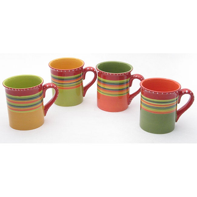 Certified International Hot Tamale Mugs (Set of 4)