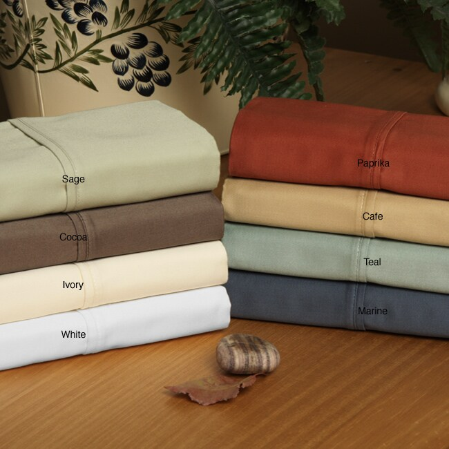 Imperial 440 Thread Count Solid 6-piece Cotton Sheet Set