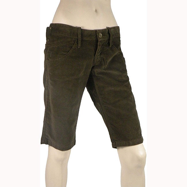 Fornarina Women's Chocolate Brown Shorts