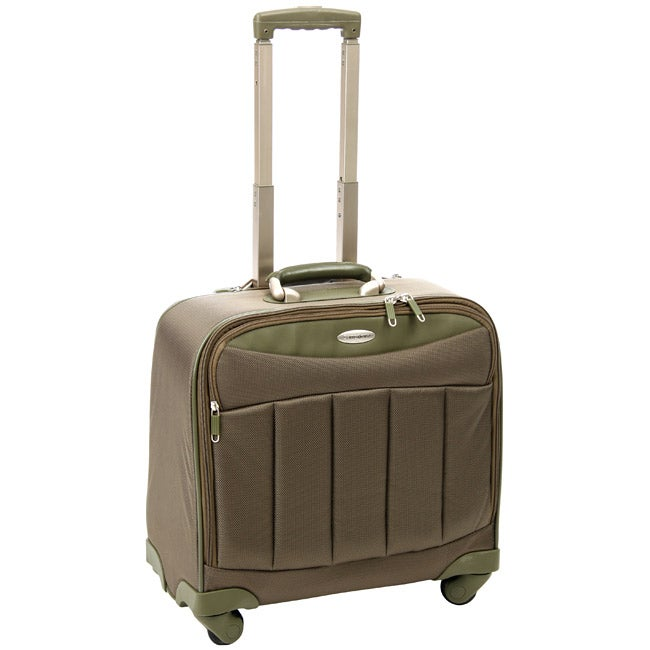 62d975ee826222 Shop Samsonite 'Silhouette' Olive 16-inch Spinner Tote - Free Shipping  Today - Overstock - 4066623