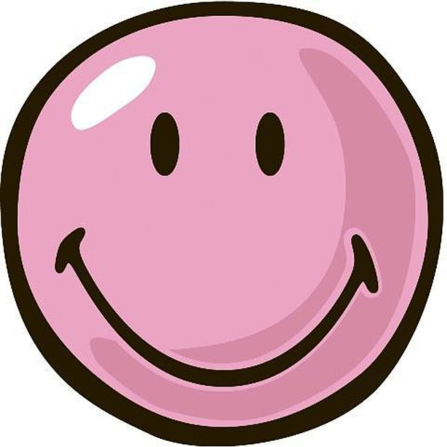 Shop Pink Smiley Party Rug Free Shipping Today