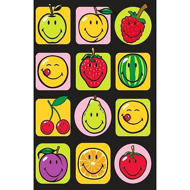 Smiley Fruits Party Rug (3'3 x 4'10), Multi, Size 3' x 5'...